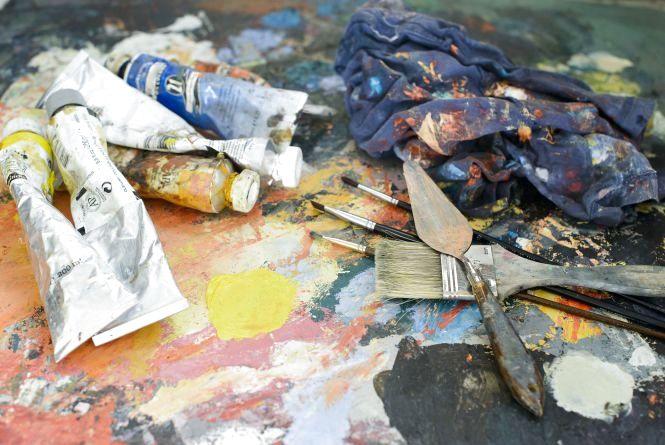 У мистецькому дворику покажуть, як малювати акрилом