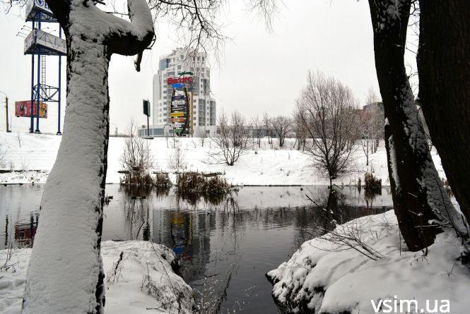 Зимова казка: як виглядає засніжений Хмельницький (ФОТО, ВІДЕО)