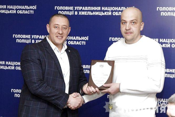 """Відзнаку """"Срібний щит"""" отримав вчитель з Хмельницького, який сам затримав озброєного розбійника"""