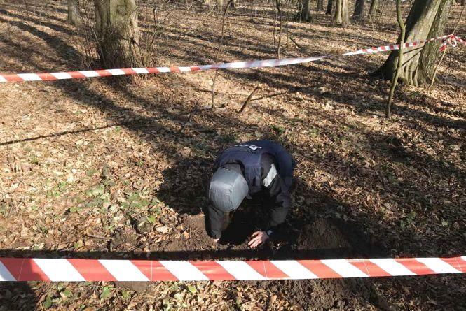 У Хмельницькому у лісосмузі знайшли небезпечний снаряд