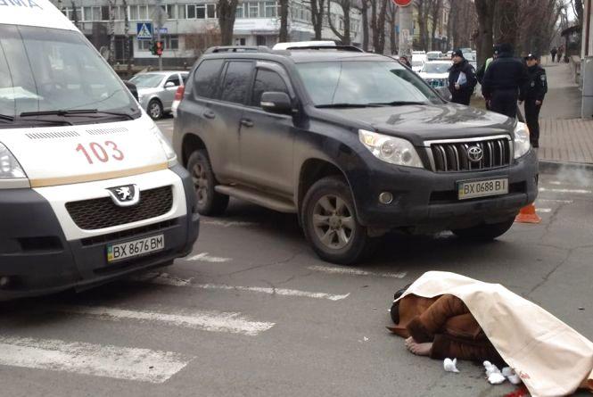 В центрі Хмельницького насмерть збили жінку