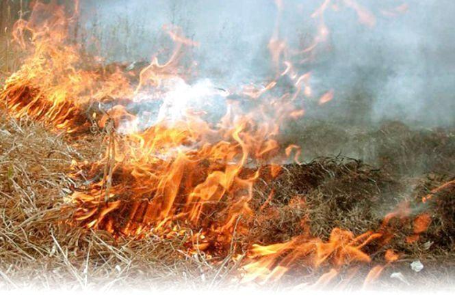 Пожежа у Хмельницькому районі пошкодила літак АН-2