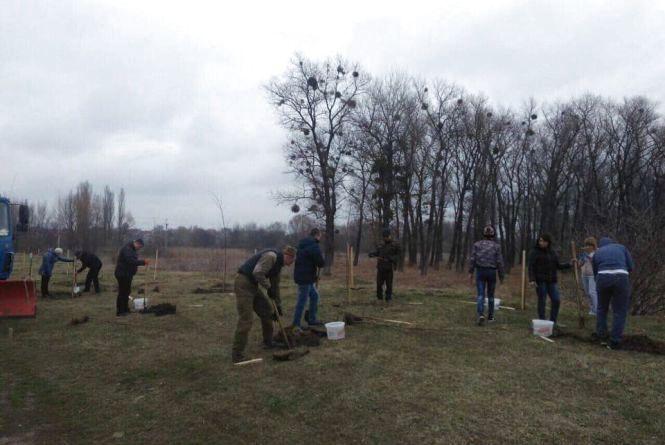 Садили дерева та боролися із бур'янами: у Хмельницькому пройшла перша весняна толока
