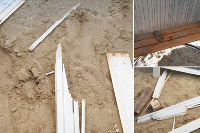 У Хмельницькому вандали потрощили нову роздягальню на пляжі