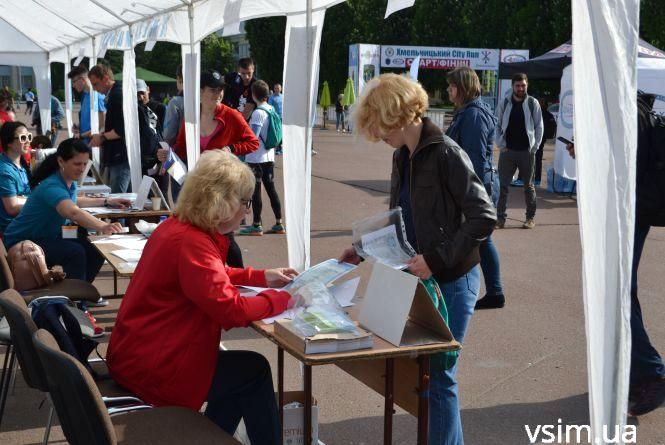 На майдані Незалежності відкрилося наметове містечко «Хмельницький City Run» (ФОТО)