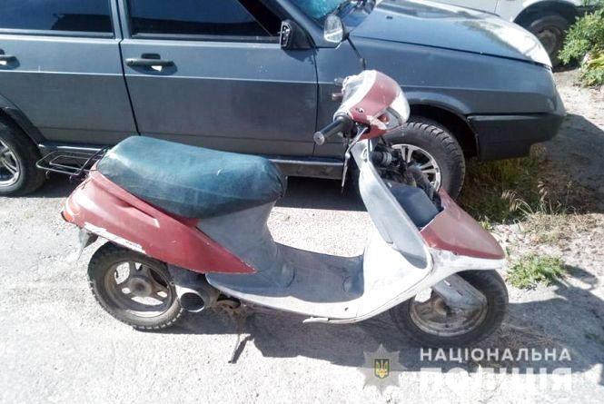 """На Хмельниччині п'яний чоловік викрав скутер, щоб """"під'їхати"""" додому"""
