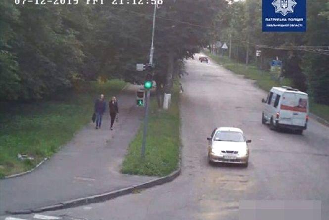 У Хмельницькому розшукують водія сірого Lanos, що втік з місця аварії