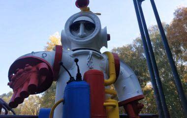 Ремонт «Космосу» у парку Чекмана: як виглядає оновлена скульптура